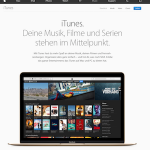 Screenshot der iTunes Webseite