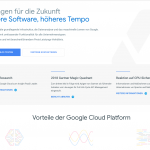 Google Cloud Platform - Cloud computing Services von Google
