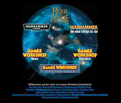 gamesworkshop.de Webseite